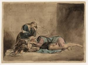 Lear and Cordelia in Prison circa 1779 by William Blake 1757-1827